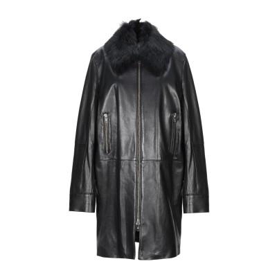 UNFLEUR コート ブラック 42 革 100% / リアルファー コート