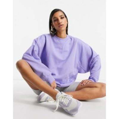 エイソス レディース シャツ トップス ASOS DESIGN super oversized cocoon sweatshirt with panel detail in lavender Lavendar