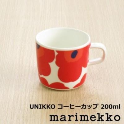 マリメッコ 北欧食器 『ウニッコ コーヒーカップ 200ml』 レッド 北欧 食器 マグカップ 花柄 おしゃれ かわいい