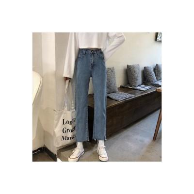 【送料無料】女性のジーンズ 荷重 秋 韓国風 ファッション ハイウエスト バリ スト | 364331_A63672-5442780
