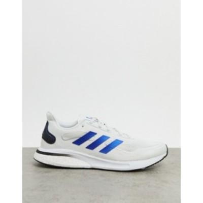 アディダス メンズ スニーカー シューズ adidas Running Supernova sneakers in white White