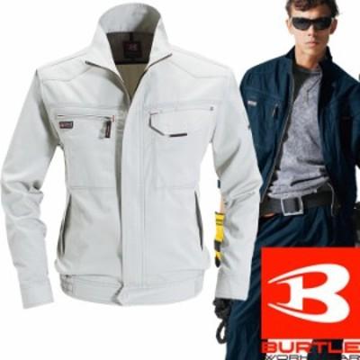 BURTLE バートル 秋冬 作業服 1311-5 チノクロスブルゾン シルバー(S~3L)作業着 1311シリーズ 長袖