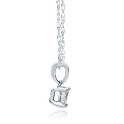 Helzberg Diamonds 10K White Gold 1/10 cttw Diamond (I-J Color, I3 Clar