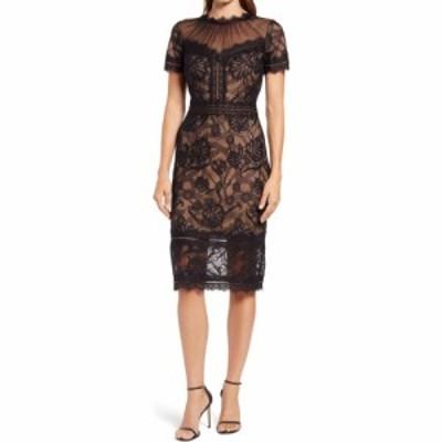 タダシショージ TADASHI SHOJI レディース ワンピース ワンピース・ドレス Embroidered Lace Dress Black/Nude