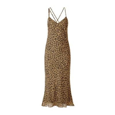 MICHELLE MASON ロングワンピース&ドレス キャメル 6 シルク 100% ロングワンピース&ドレス