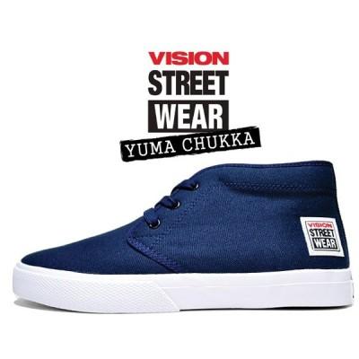 ヴィジョン ユーマ チャッカ VISION STREET WEAR YUMA CHUKKA NAVY vsw-6354-030 スニーカー スケート ビジョン ストリート ウェア ネイビー
