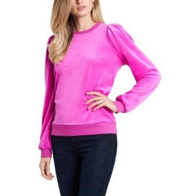ワンステイト レディース カットソー トップス Velour Puff Sleeve Top Party Pink