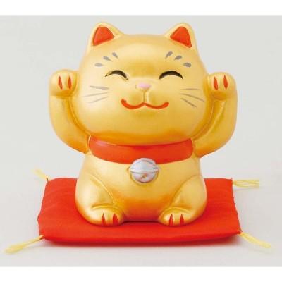 幸せ招き猫 特小 金(両手上げ) ポイント消化