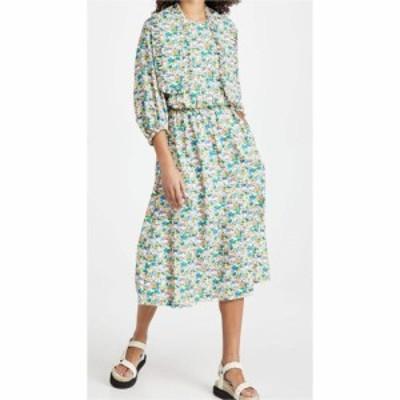 ティビ Tibi レディース ワンピース ワンピース・ドレス Sabine Floral Allonge Collar Dress Light Stone Multi
