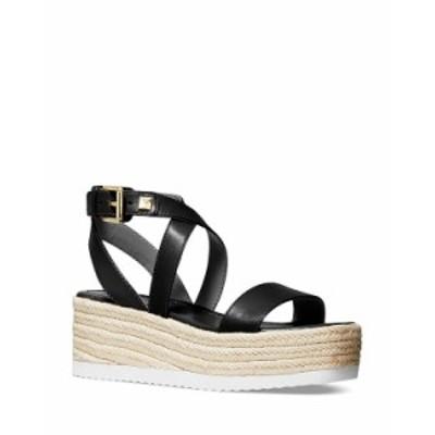 マイケルコース レディース サンダル シューズ Women's Lowry Espadrille Wedge Sandals Black