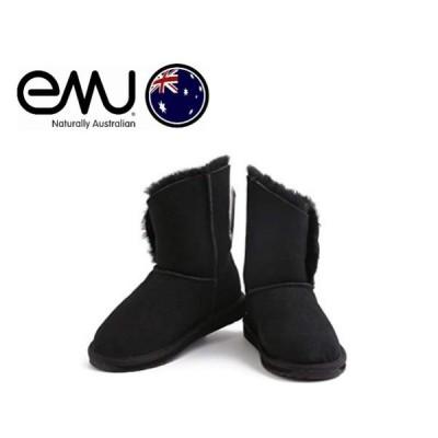 EMU VALERY LO  emu ボタン エミュー ムートンブーツ レディース  秋冬 シープスキン 正規品 ブーツ 本革  ぺたんこ  送料無料