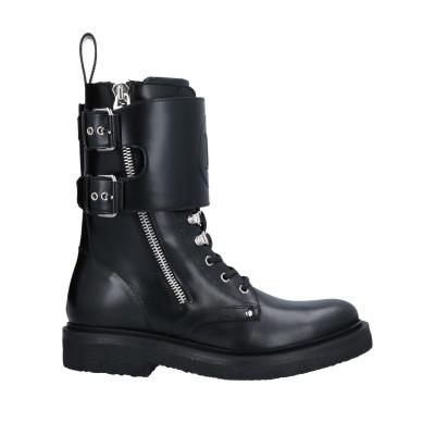 バルマン BALMAIN ショートブーツ ブラック 41 牛革(カーフ) 100% ショートブーツ