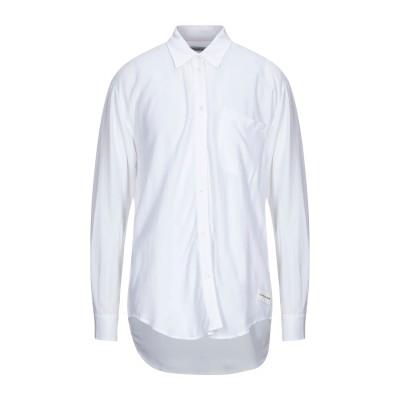 YOOX - CALVIN KLEIN JEANS シャツ ホワイト XL レーヨン 100% シャツ