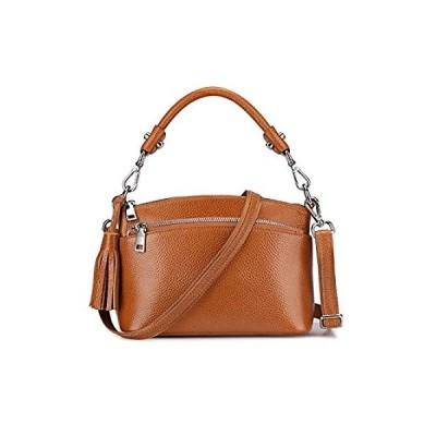 S-ZONE Women's Small Genuine Leather Top Handle Handbag Shoulder Bag Satche