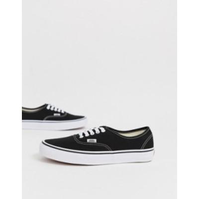 バンズ レディース スニーカー シューズ Vans Classic Authentic black sneakers Black