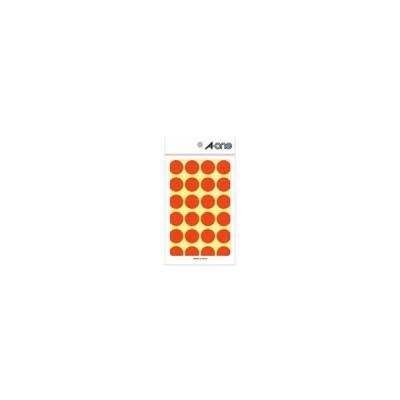 エーワン/カラーラベル 丸型 直径20mm 橙 24面 14シート/07045