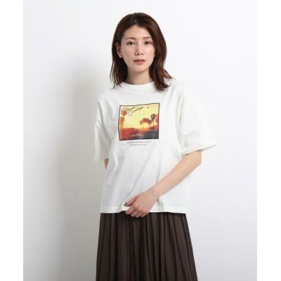 Dessin/デッサン 【CLASSY.6月号掲載/XS~L/洗える】フォトプリントTシャツ アイボリー(004) 01(S)
