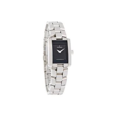 腕時計 モバード Movado Eliro レディース ブラック ダイヤル ステンレス スチール スイス クォーツ 腕時計 0604133