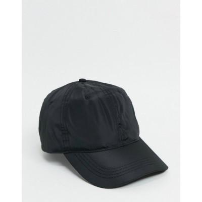 エイソス ASOS DESIGN メンズ キャップ 帽子 baseball cap in black nylon ブラック