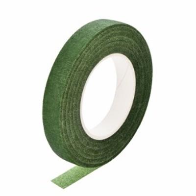 uxcell フローラルテープ 1ロール 12mm幅 30ヤード 花の接着剤 フラワーアレンジメントキット グリーン