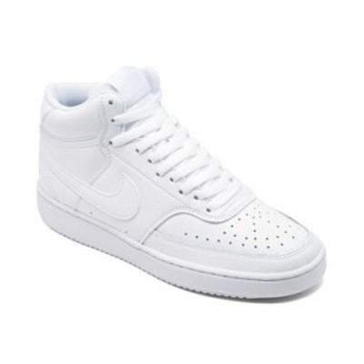 ナイキ レディース スニーカー シューズ Women's Court Vision Mid Casual Sneakers from Finish Line White White-White