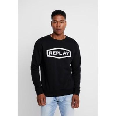リプレイ メンズ パーカー・スウェットシャツ アウター Sweatshirt - black black
