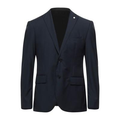 LUIGI BIANCHI Mantova テーラードジャケット ダークブルー 52 ウール 100% テーラードジャケット