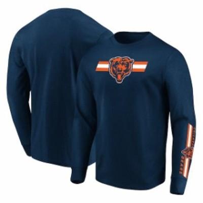 Majestic マジェスティック スポーツ用品  Majestic Chicago Bears Navy Dual Threat Long Sleeve T-Shirt