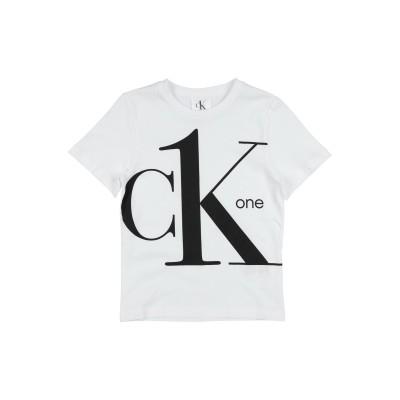 YOOX - CALVIN KLEIN JEANS T シャツ ホワイト 8 コットン 100% / ポリウレタン T シャツ