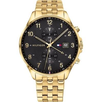 トミー ヒルフィガー メンズ 腕時計 アクセサリー Men's Chronograph Gold-Tone Stainless Steel Bracelet Watch 44mm