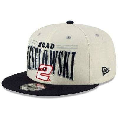 ユニセックス スポーツリーグ モータースポーツ Brad Keselowski New Era 9FIFTY Vintage Name Snapback Adjustable Hat - Cream/Navy -