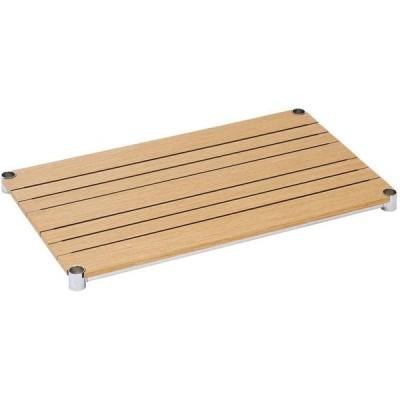ドウシシャ ルミナス 25mmポール ウッドシェルフ(木製棚板) ナチュラル 76×46cm WS7645-NA