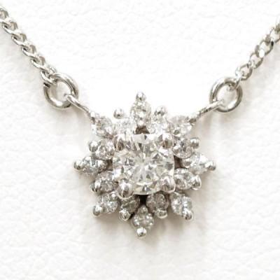 ネックレス PT850 プラチナ ダイヤ 0.16 0.13 総重量約3.5g