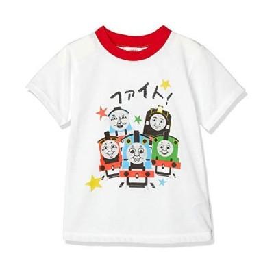 [トーマス] トーマス 応援メッセージ 半袖 Tシャツ 男の子 きかんしゃトーマス レッド 日本 80 (日本サイズ80 相当)