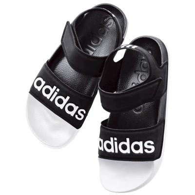 ベルーナ <adidas>アディレッタサンダル ブラック×ホワイト 24.5cm レディース