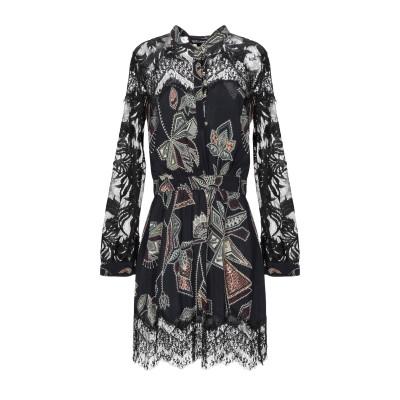 ジャストカヴァリ JUST CAVALLI ミニワンピース&ドレス ブラック 44 レーヨン 100% / ポリエステル ミニワンピース&ドレス