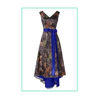 Chupeng Women's S Camouflage Prom Satin Wedding Bridal Dress 4 Style2-royalblue2並行輸入品