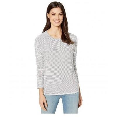 SKECHERS スケッチャーズ レディース 女性用 ファッション Tシャツ Session Long Sleeve - White/Black
