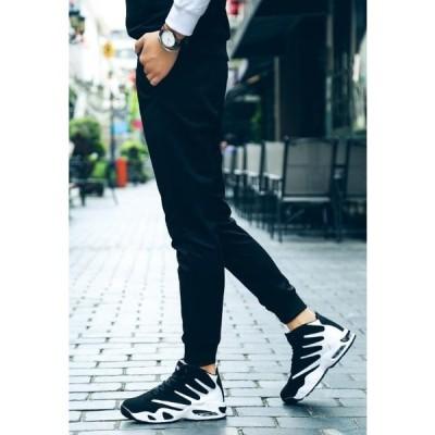 ハイカット 白黒 滑らない 靴 ジム シューズ メンズ スニーカー 3色展開