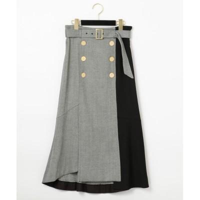 GRACE CONTINENTAL / ベルト付ダブルボタンスカート WOMEN スカート > スカート