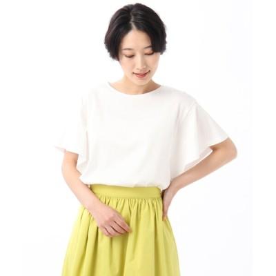 tシャツ Tシャツ 「L」【WEB限定】バイオシルケットスムース フレアスリーブカットソー