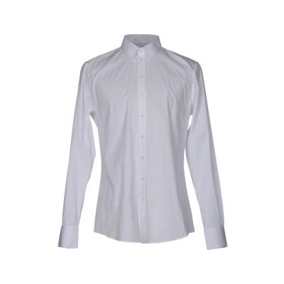 ドルチェ & ガッバーナ DOLCE & GABBANA シャツ ホワイト 45 コットン 97% / ポリウレタン 3% シャツ