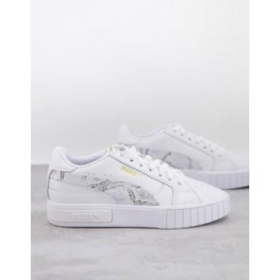 プーマ レディース スニーカー シューズ PUMA Cali Star sneakers in white and snake White/snake