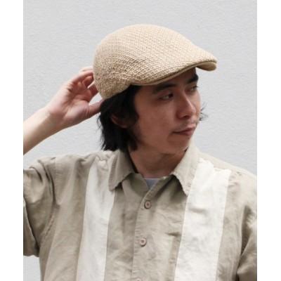 OVERRIDE / 【CASTANO】PAPER YARN HUNTING / 【カスターノ】ペーパーヤーン ハンチング MEN 帽子 > ハンチング/ベレー帽