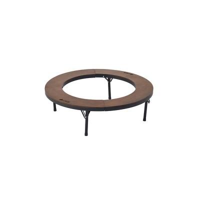 ロゴス(LOGOS) テーブル アウトドア キャンプ おうち時間 ソロキャンプ テーブル アイアンウッド囲炉裏サークルテーブルL 81064106 (メンズ、レディース)