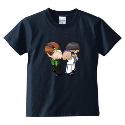 トムとマルク ver.2(キッズTシャツ)(カラー : インディゴ, サイズ : 140)