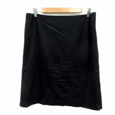 【中古】アナカ Unaca タイトスカート ひざ丈 40 黒 ブラック /MN レディース