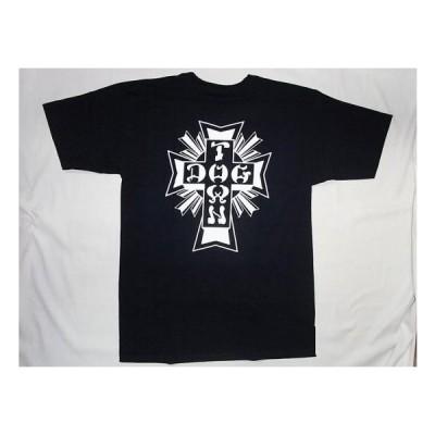 DOGTOWN ドッグタウン モノトーン クロスロゴ Tシャツ 紺x白 ネイビー