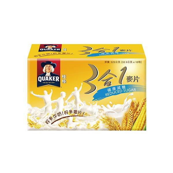 桂格三合一麥片--健康減糖