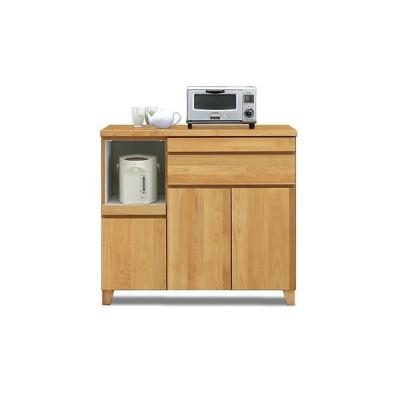 キッチンカウンター キッチン収納 食器棚 完成品 幅100cm 北欧風 脚付き